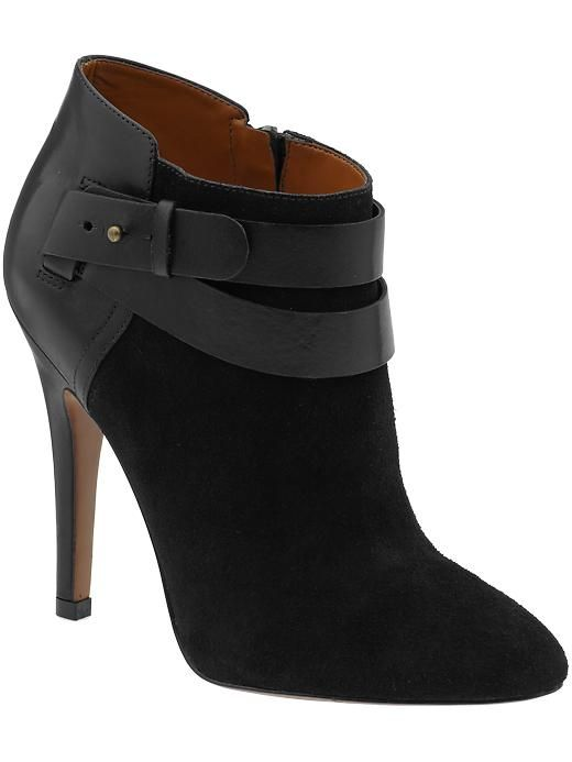 High heeled booties by Nine West will become your favorites this fall. Pair with sheath dresses or jeans.