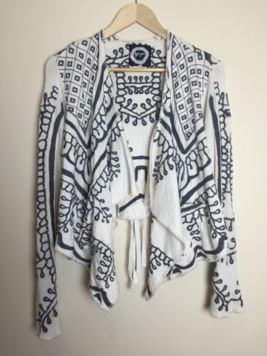 BIYA-JOHNNY-WAS-CARDIGAN-STUNNING-DETAIL-SIZE-XS CALLING ALL NINA PROUDMAN FANS!