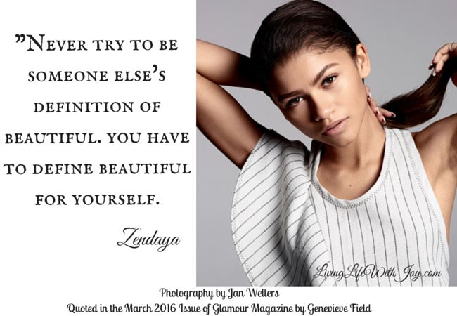 Zendaya-Glamour Quote of the Week on Living Life With Joy