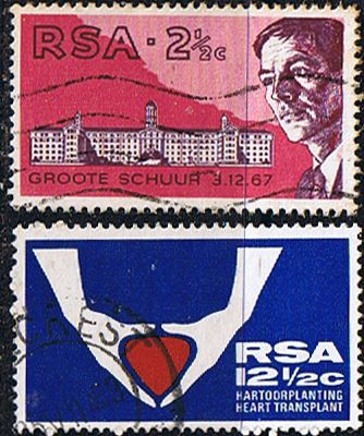 South Africa 1969 First Heart Transplant Set Fine Used                    SG 280 1 Scott 355 6          Condition Fine Used    Only one post charge