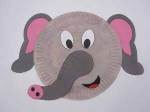 Elephant-Paper-Plate | Crafts and Worksheets for Preschool,Toddler and Kindergarten