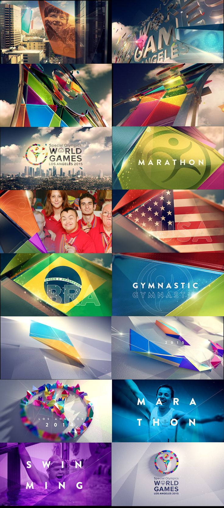 ESPN SPECIAL OLYMPICS 2015 on Behance. Motion graphics style frames for sports design