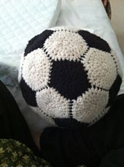 Easy free Crochet Soccer Ball Pattern made by me. (Download available on Ravelry)