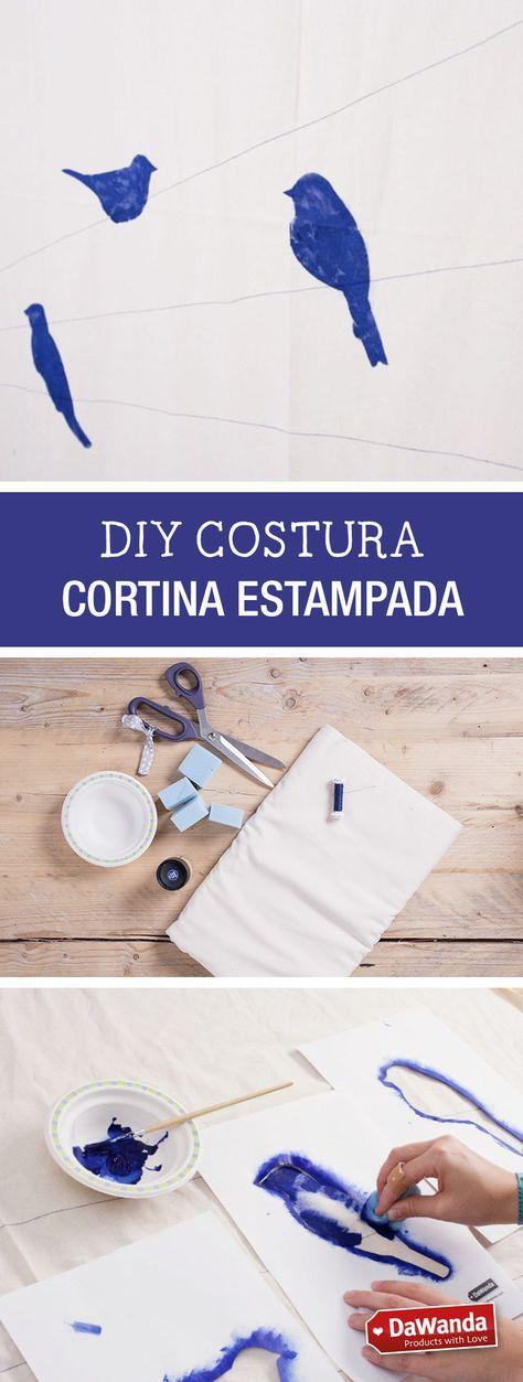 Tutorial DIY: Cómo hacer una cortina estampada para decorar tu habitación - en DaWanda.es