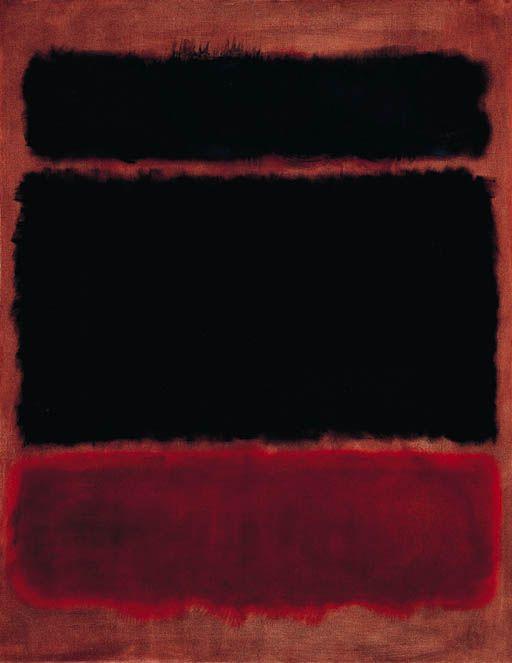 Mark Rothko — Black in Deep Red, 1957