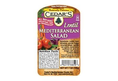 The Packaged Foods Dietitians Pick // Cedar's Lentil Mediterranean Salad c Cedar's Foods