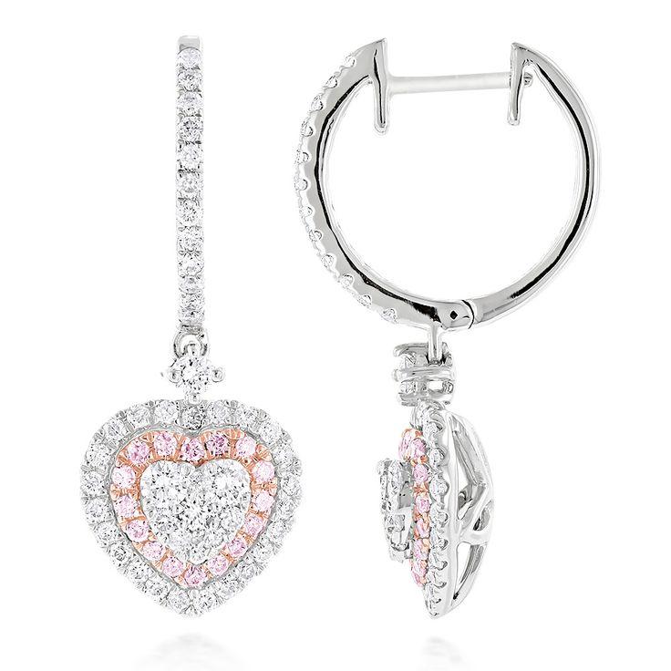 Diamantschmuck in Herzform zum Valentinstag verschenken.  Diese Weißgold Diamantohrringe in Herzform sind mit 1.65 Karat Diamanten besetzt.  Diamantohrringe vom Juwelier Abt in Dortmund.  #valentinstag #diamanschmuck #herz #juwelier #abt #dortmund #diamanten gold #diamantohrringe