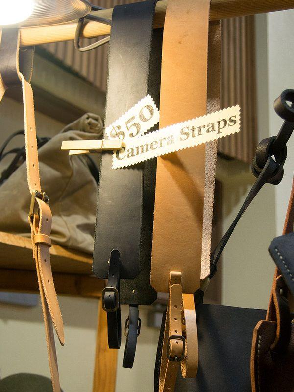 Leather camera straps, Daniel Walling