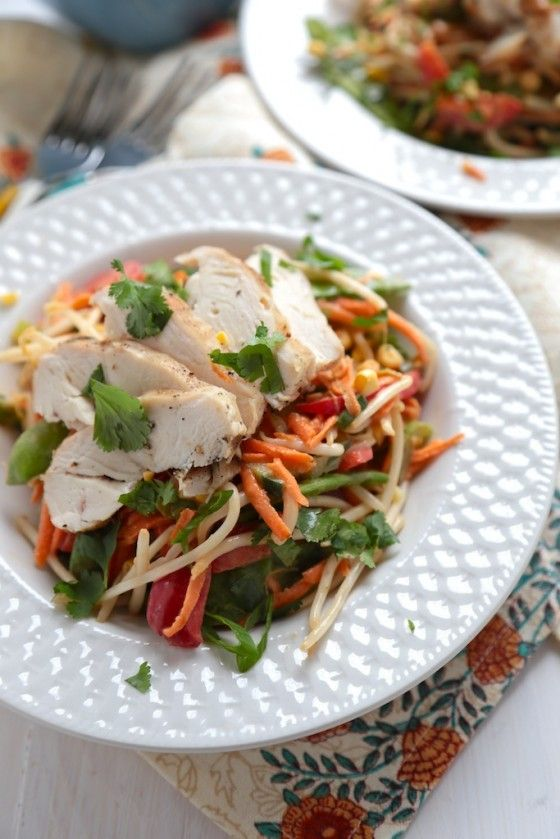 Grilled Chicken Peanut Asian Salad - Country Cleaver