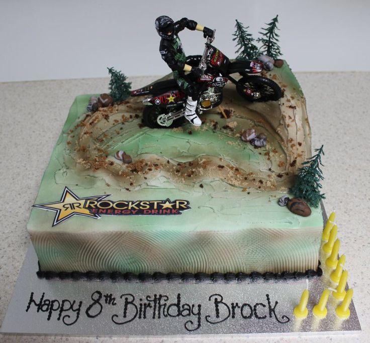 Motor Cross Dirt Bike Cake Kids Bday Ideas Pinterest
