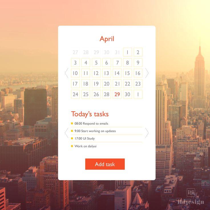 Day 38: Calendar UI Design