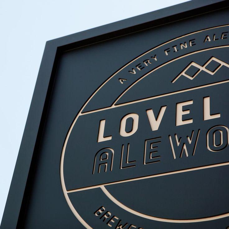 Manual — lovelandManual Creative, Loveland Alework, Signs Design, Wood Signs, Graphics Design, Exterior Signage, Environment Graphics, Beer Brand, Super Signage