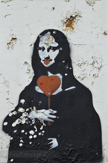 Mona Lisa, pop art, Grafitti Art, Street Art.
