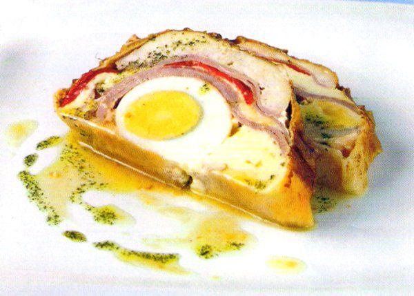 Fiambre de pollo relleno - Recetas buenas de cocina