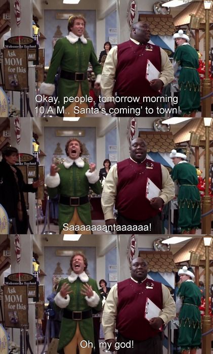 Buddy!Holiday, Great Movie, Christmas Time, Christmas Movies, Funny, Favorite Movie, Will Ferrell, Buddy The Elf, Elves