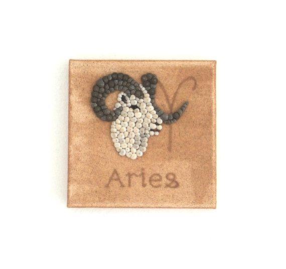 Aries Star Sign, Seashell Mosaic on Sand, Artwork with Seashells and Sand, Mosaic Art, 3D Art Collage, Home Decor, Wall Art Decor, Gift Idea #ArtworkwithSeashells #mosaiccollage #seashellmosaic #homedecor #walldecor #3D