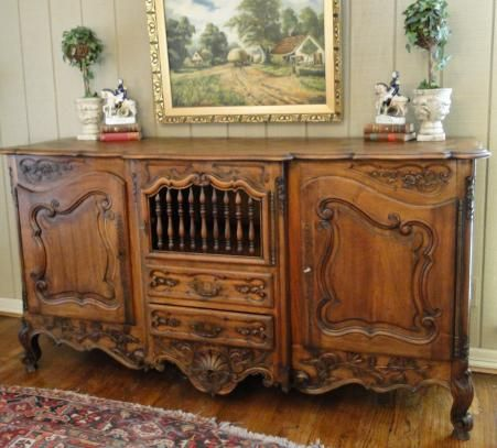 Antique FRENCH COUNTRY Buffet LOUIS XV CABINET SIDEBOARD CARVING Parquet Old - 56 Best French Antiques Images On Pinterest Home, Cottage Style
