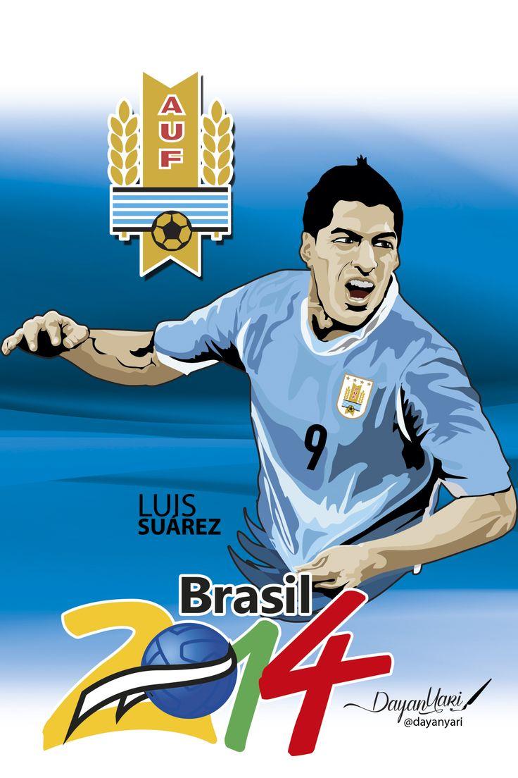 #luissuarez #uruguay #brasil2014 #ilustracion
