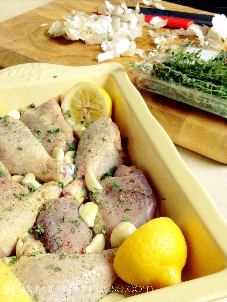 Super easy lemon chicken bake recipe.