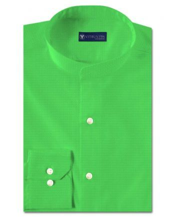 Buy Spring Green tailor made shirts online made from a blend of linen and cotton shirting fabric @Vitruvien.com. Click now to buy custom made shirts today!