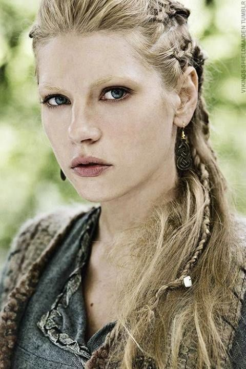 """I love Lagertha's hair in the History Channel show """"Vikings.""""  It was the inspiration for my hair yesterday; the result was pretty, with a smidgen of tough."""