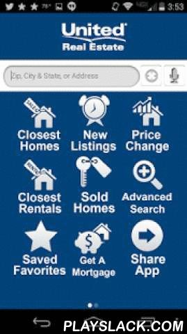 United Real Estate  Android App - playslack.com ,  United Real Estate brings the most accurate and up-to-date real estate information right to your phone! With United Real Estate, you have access to all homes for sale and MLS listings throughout your area. Use United Real Estate's app anytime, anywhere to pull up homes for sale around you using the GPS search, or find homes based on address, city or zip code. United Real Estate will show you all the details you want to know about a property…