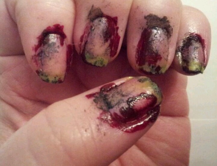 My manicure for the Zombie Prom!  :)