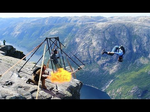 Amazing basejumpers at Kjerag (Spectacular Norway) - 70 million views on...