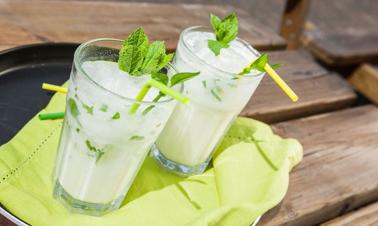 Alpro - Alprojito - Bruisende, zomerse mojito met Alpro Drink Banaan
