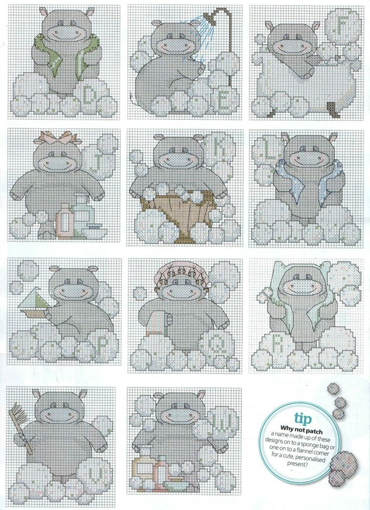 GRAFICOS PUNTO DE CRUZ GRATIS : ABECEDARIOS INFANTILES(53)