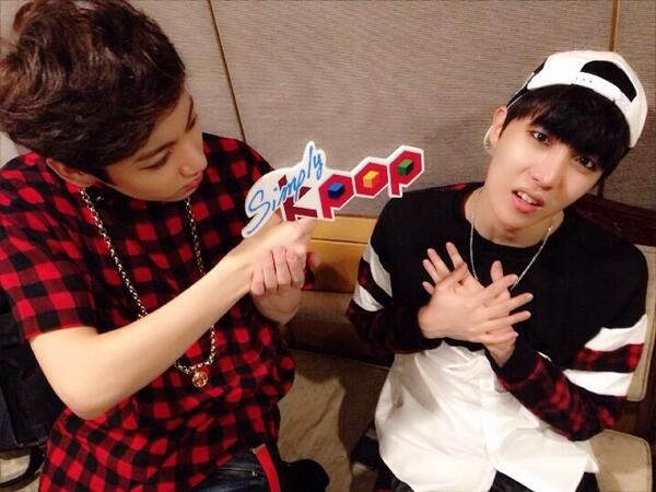 simply kpop uploads selca of jungkook and jhope