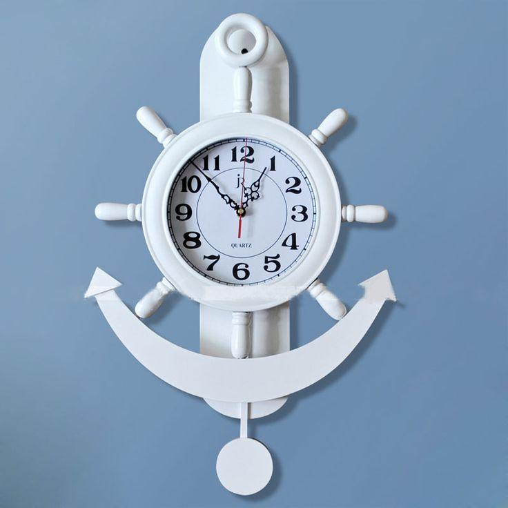 Clock Saat Wall Clock Duvar Saati Horloge Murale Relogio Parede quartz Mediterranean wood wall clocks Klok home decor Watch