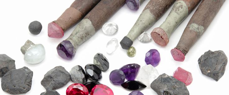 Birdseye view of the cuts, tools and techniques involved in lapidary arts, i.e. cutting or forming gemstones.