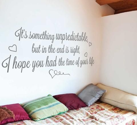 It's Something Unpredictable Lyrics Wall Sticker