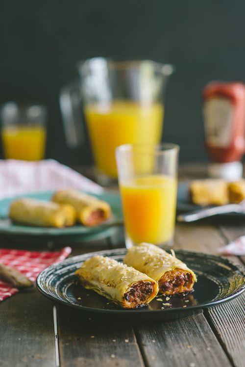 chorizo sausage rolls | Meals | Pinterest