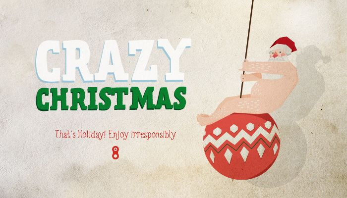 #Christmas #cards #2013 #Design #Graphic #babbonatale #santaclaus #happychristmas #wreckingballs #crazychristmas