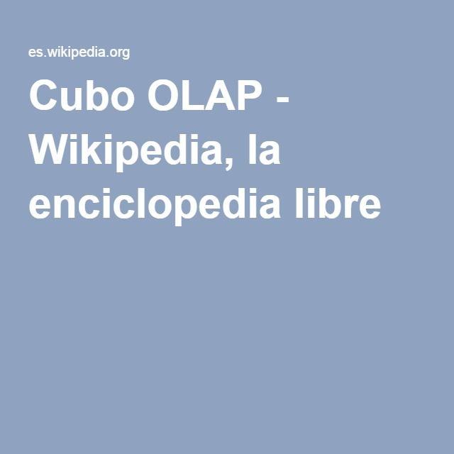 Cubo OLAP - Wikipedia, la enciclopedia libre