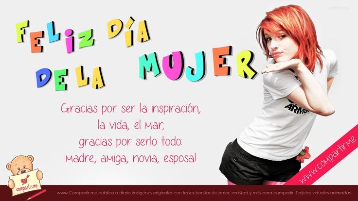 ¡Feliz día de la mujer! Gracias por ser la inspiración, la vida, el mar; gracias por serlo todo: madre, amiga, novia, esposa!