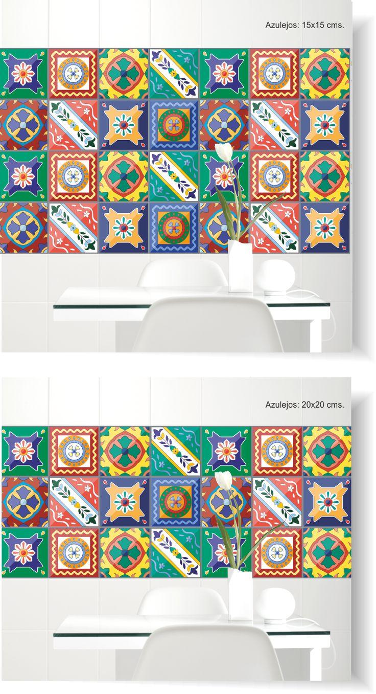 1000 images about vinilos azulejos pared on pinterest - Azulejos 20x20 colores ...