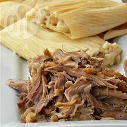 Foto recept: Tamales met varkensvlees