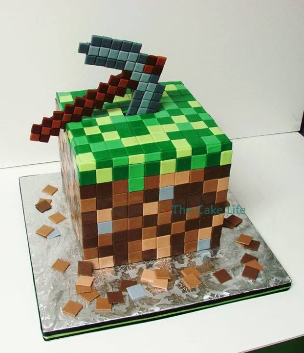 Cake Ideas Minecraft : Minecraft Birthday Cake--Awesome!! Birthdays Pinterest ...