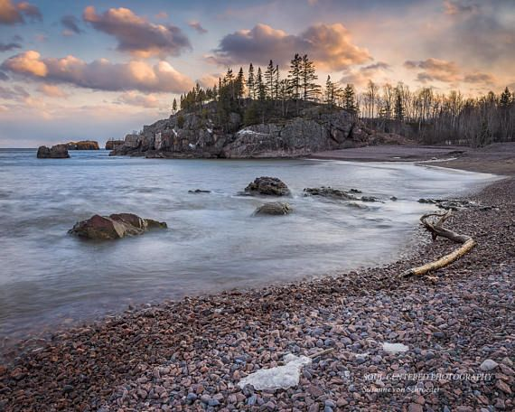Lake Superior Landscape Nature Photography Beach Cloudy Sky
