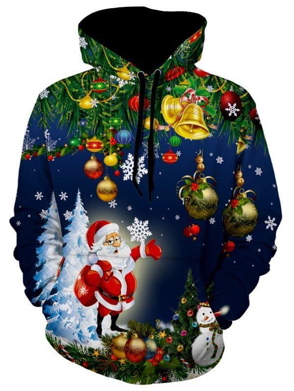 83924bc3 Christmas Tree Jingle Bells Santa Christmas Hoodie -   Shoppping ...