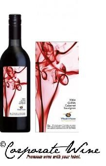 From our Silver Range, Griffith 2009 Cabernet Sauvignon was chosen by this customer to go with Corporate Wine Custom Designed labels.