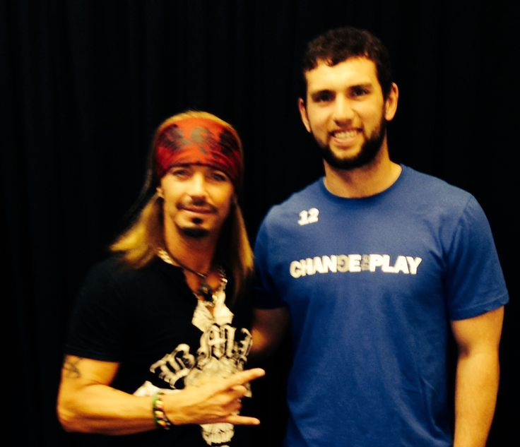 In honor of NFL Super Bowl 50, check out this great photo of Bret and Indianapolis Colts QB Andrew Luck. Bret was a featured speaker/presenter at the Channel 13 WTHR Health & Fitness Expo. - Te...