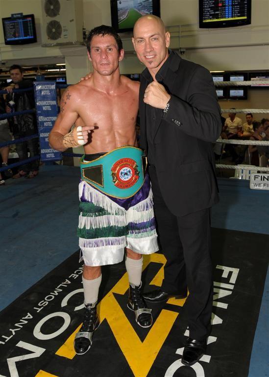 Corey McConnell - winning the Australian Featherweight Boxing title.