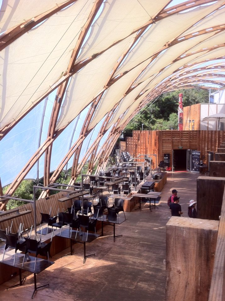 Double skin roof over the Waitomo Visitor Centre