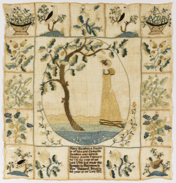 Sampler (USA), 1812   Objects   Collection of Cooper Hewitt, Smithsonian Design Museum