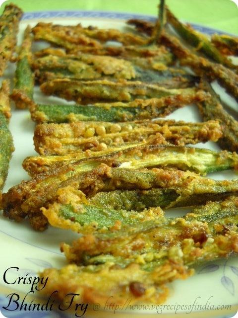 Crispy Bhindi Fry Recipe: Crisp Bhindi Fry, Crisp Fried Bhindi, Kurkuri Bhindi