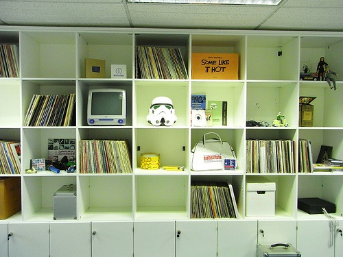 The Something Big staff shelves, full of records of course!